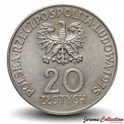 POLOGNE - PIECE de 20 ZLOTE - Maria Konopnicka - 1978