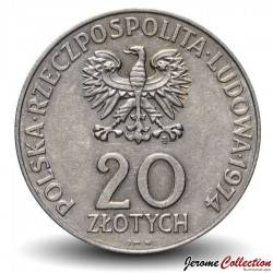 POLOGNE - PIECE de 20 ZLOTE - 25 and du Comecon - 1974