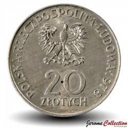 POLOGNE - PIECE de 20 ZLOTE - 1er cosmonaute polonais - 1978