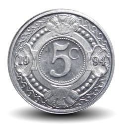ANTILLES NEERLANDAISES - PIECE de 5 Cents - Fleur d'oranger - 1994 Km#33