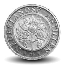 ANTILLES NEERLANDAISES - PIECE de 5 Cents - Fleur d'oranger - 1994