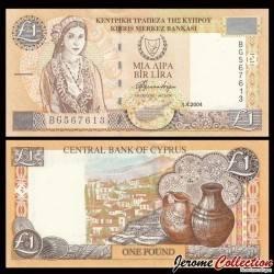 CHYPRE - Billet de 1 Livre chypriote - Kato Drys - 2004 P60d