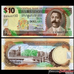 BARBADE - Billet de 10 Dollars - Charles Duncan O'Neal - 02.05.2012