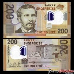 ALBANIE - Billet de 200 Leke - Naim Frashëri - Polymer - 2017 / 2019