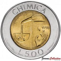 SAINT-MARIN - PIECE de 500 Lires - Chimie - 1998 Km#383