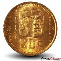 MEXIQUE - PIECE de 20 Pesos - Culture Olmèque - 1983 Km#491