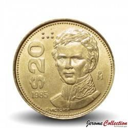 MEXIQUE - PIECE de 20 Pesos - Guadalupe Victoria - 1985 Km#508