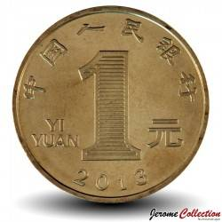 CHINE - PIECE de 1 YUAN - Année du serpent - 2013