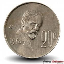 MEXIQUE - PIECE de 20 Centavos - Francisco Madero - 1978 Km#442