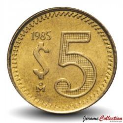 MEXIQUE - PIECE de 5 Pesos - Armoiries du Mexique - 1985 Km#502