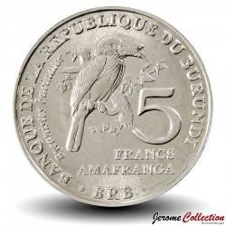 BURUNDI - PIECE de 5 Francs - Bycanistes bucinator - 2014 Km#28