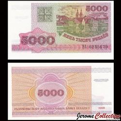 BIÉLORUSSIE - Billet de 5000 Roubles - Bâtiments à Minsk - 1998