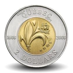 CANADA - PIECE de 2 DOLLARS - Ville de Québec - 2008 Km#1040