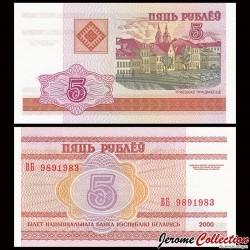 BIÉLORUSSIE - Billet de 5 Roubles - 2000 P22a