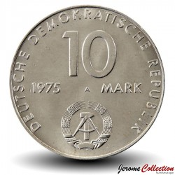 ALLEMAGNE DE L'EST / DDR / RDA - PIECE de 10 Marks - Pacte de Varsovie - 1975