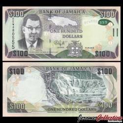 JAMAIQUE - Billet de 100 DOLLARS - 2018 P95e