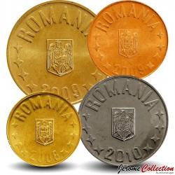 ROUMANIE - SET / LOT de 4 PIECES - 1 5 10 50 Bani - 2008 2015