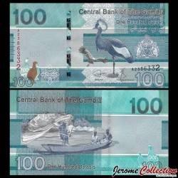 GAMBIE - Billet de 100 Dalasis - Oiseaux Grues couronnées - 2019