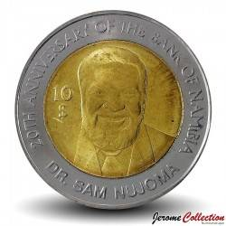NAMIBIE - PIECE de 10 Dollars - Dr. Sam Nujoma - 2010 Km#21