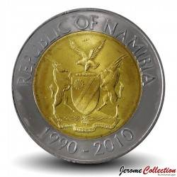 NAMIBIE - PIECE de 10 Dollars - Dr. Sam Nujoma - 2010