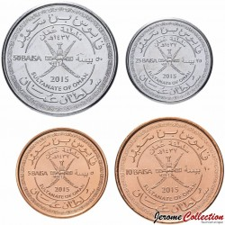 OMAN - SET / LOT de 4 PIECES - 5 10 25 50 Baisa - 2015