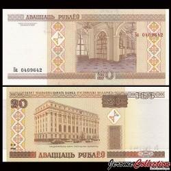 BIÉLORUSSIE - Billet de 20 Roubles - 2000 P24a