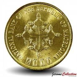 MACEDOINE DU NORD - PIECE de 1 DENAR - 2000 ans du christianisme - 2000 Km#27
