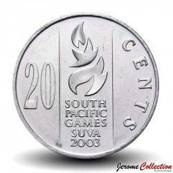FIDJI - PIECE de 20 CENTS - Jeux du Pacifique Sud de 2003