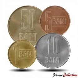 ROUMANIE - SET / LOT de 4 PIECES - 1 5 10 50 BANI - Nouvel Emblème - 2019 Km#new