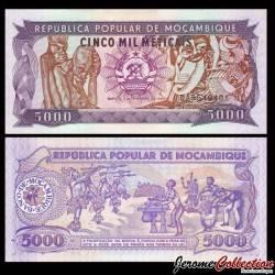 MOZAMBIQUE - Billet de 5000 Meticais - 03.02.1989