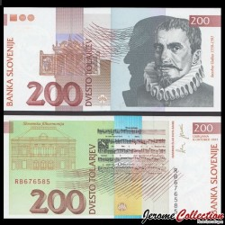 SLOVENIE - Billet de 200 Torlarjev - 1997 - Jakobus Gallus