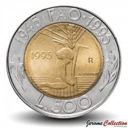 SAINT-MARIN - PIECE de 500 Lires - 50 ème anniversaire FAO - 1995 Km#330
