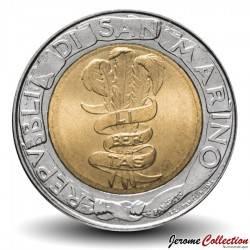 SAINT-MARIN - PIECE de 500 Lires - 50 ème anniversaire FAO - 1995