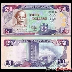 JAMAIQUE - Billet de 50 DOLLARS - Samuel Sharpe - Commémoratif - 2010