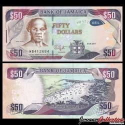 JAMAIQUE - Billet de 50 DOLLARS - Samuel Sharpe - 1.06.2017