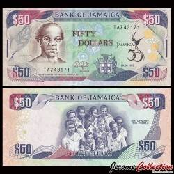 JAMAIQUE - Billet de 50 DOLLARS - Samuel Sharpe - Golden Jubilee of Jamaica - 6.08.2012