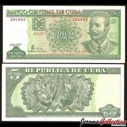 CUBA - Billet de 5 Pesos - Antonio Maceo - 1997 P116a
