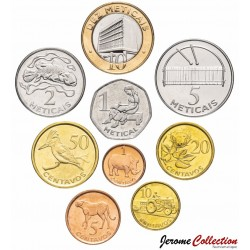 MOZAMBIQUE - SET / LOT de 9 PIÈCES - 1 5 10 20 50 Centavos 1 2 5 10 Meticais - 2006 Km#132 à 140