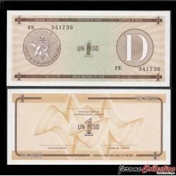 CUBA - Billet de 1 Peso - 1985