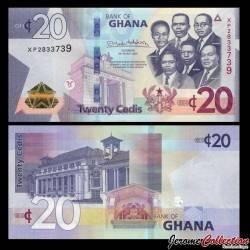 GHANA - Billet de 20 Cedis - 2019 (nouveau design) P40h