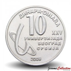 SERBIE - PIECE de 20 Dinars - XXV ième Universiade d'été - 2009 Km#51