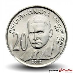 SERBIE - PIECE de 20 Dinars - Michael Pupin - 2012 Km#62