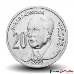 SERBIE - PIECE de 20 Dinars - Milutin Milanković - 2009 Km#52