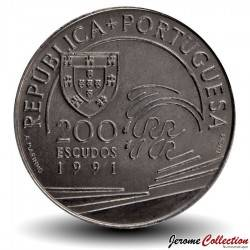 PORTUGAL - PIECE de 200 Escudos - Christophe Colomb - 1991