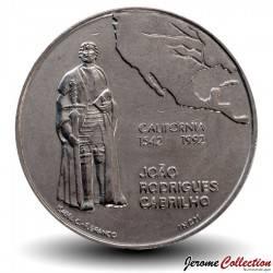 PORTUGAL - PIECE de 200 Escudos - Découverte de la Californie - 1992 Km#661