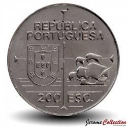PORTUGAL - PIECE de 200 Escudos - Découverte de la Californie - 1992
