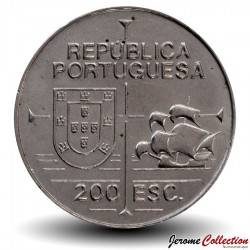 PORTUGAL - PIECE de 200 Escudos - Découverte de la Californie - 1992