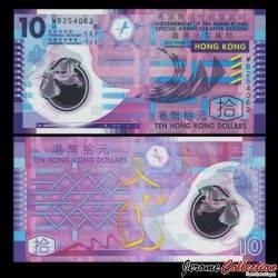 HONG KONG - Billet de 10 Dollars - Polymer - 2014
