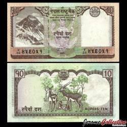 NEPAL - Billet de 10 Roupies - 2010