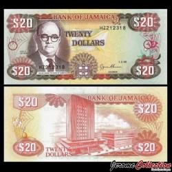 JAMAIQUE - Billet de 20 DOLLARS - Noel N. Nethersole - 1995
